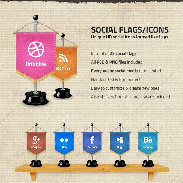 Social Media Flags / Icons