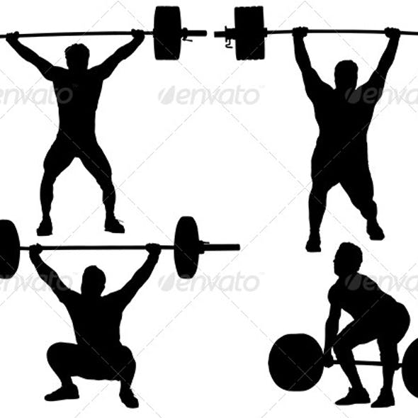 Weight Lifting Silhouette