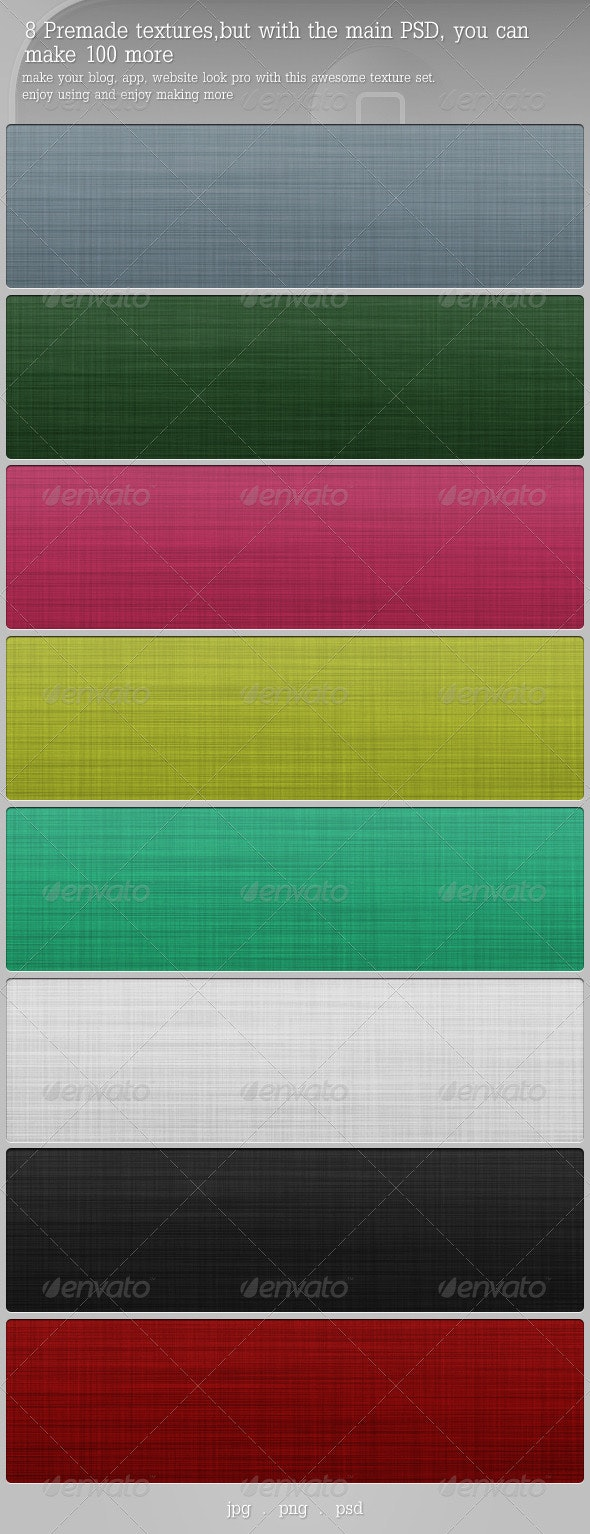 Fabric Texture Unlimited Set (PSD+PNG+JPG) - Fabric Textures