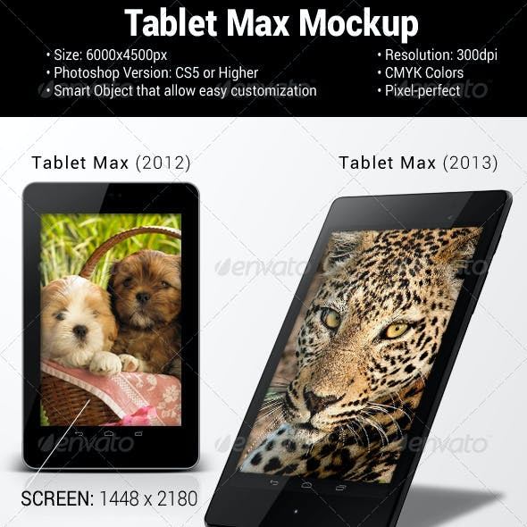 Tablet Max Mockup