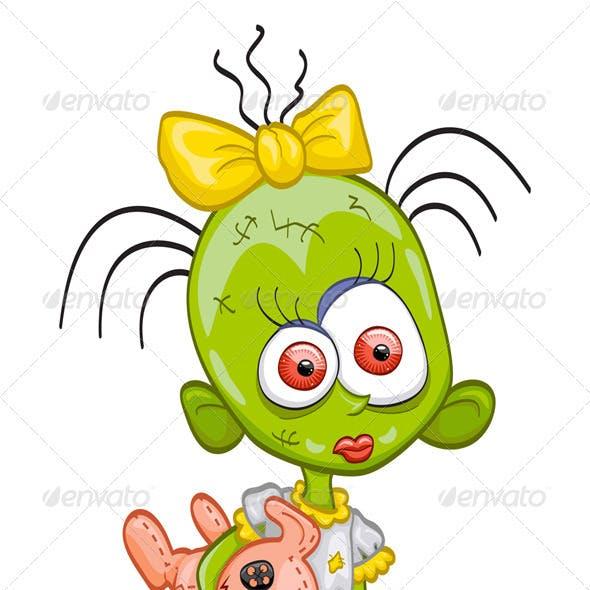 Little zombie-girl