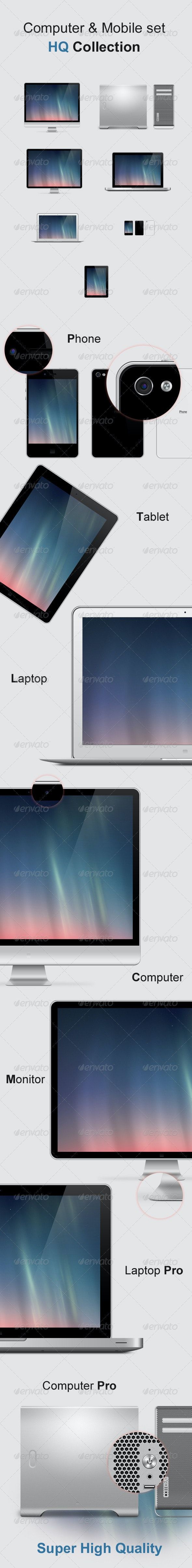 Computer & Mobile Set - Multiple Displays