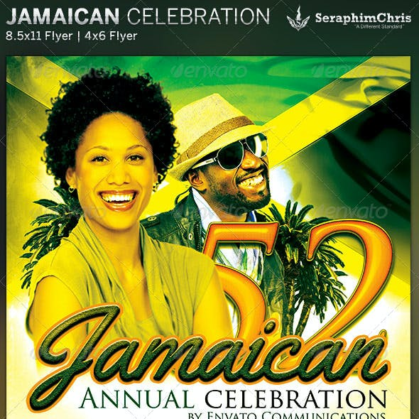 Jamaican Celebration Event Flyer Template