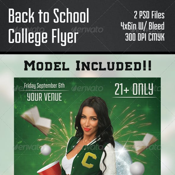 Back to School College Flyer