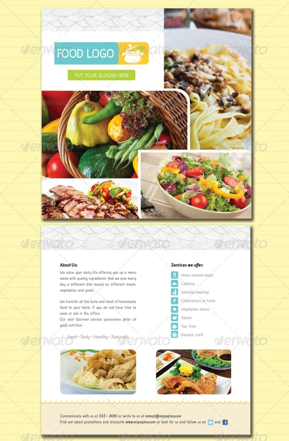 Flyer / Food Service and Catering - Restaurant Flyers