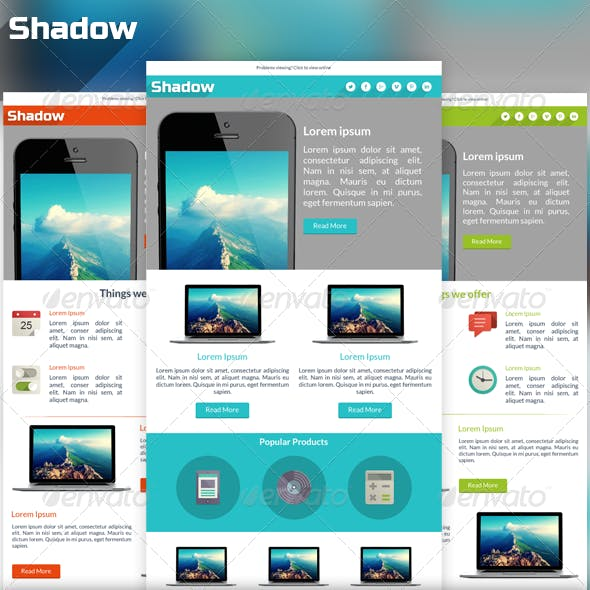 Shadow - Modern Email PSD Template