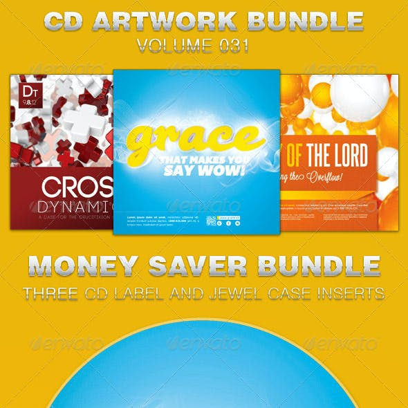 CD Cover Artwork Template Bundle-Vol 031