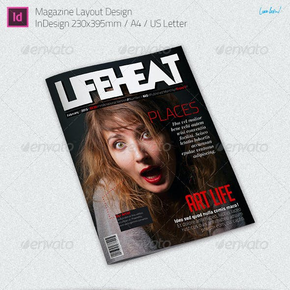Modern Magazine Layout - InDesign