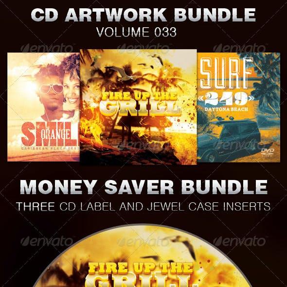 CD Cover Artwork Template Bundle-Vol 033