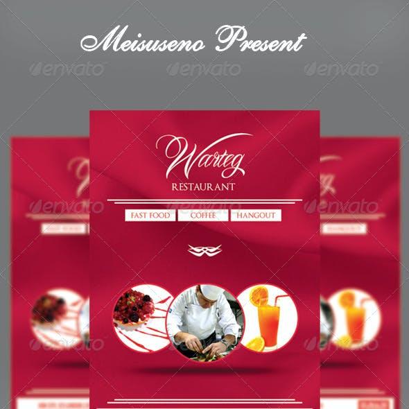 Warteg Restaurant Flyer Template