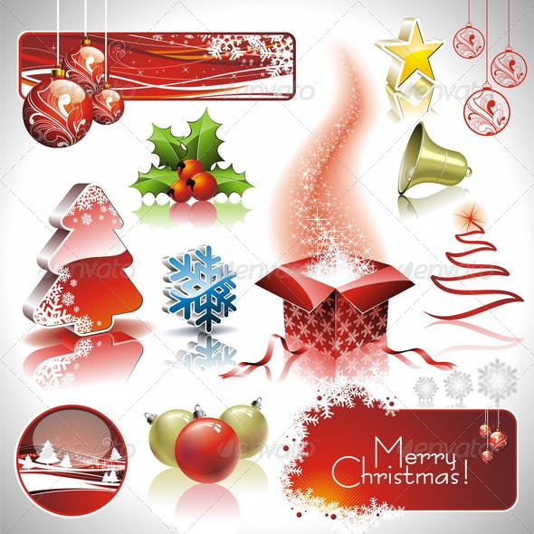 Vector design set on a christmas theme