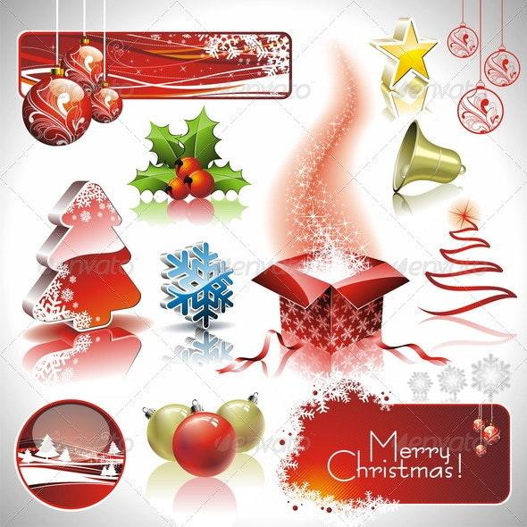 Vector design set on a christmas theme - Christmas Seasons/Holidays