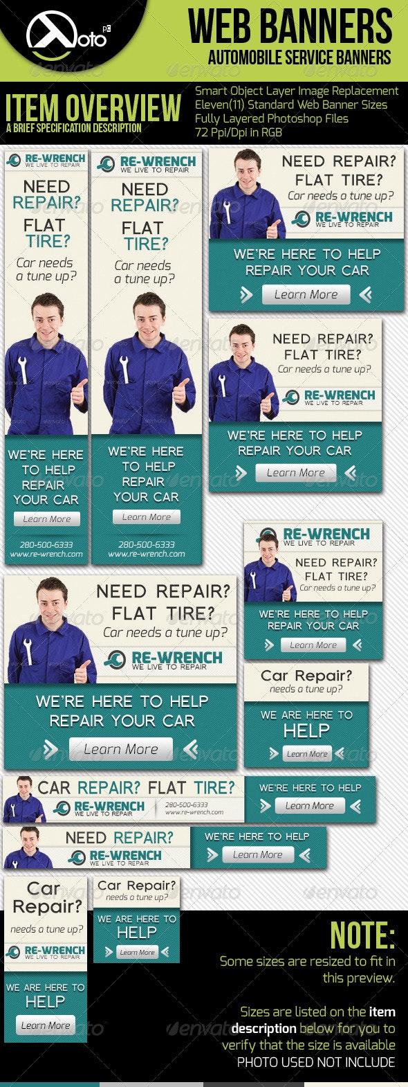 Car Service Web Banners