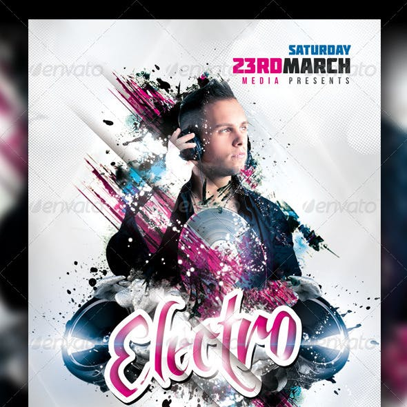 Minimal - Electro - House Party Flyer