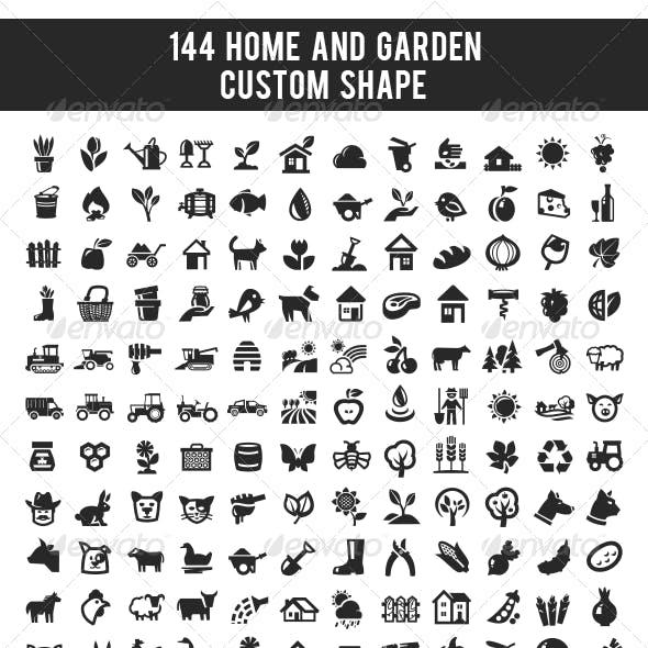 144 Home and Garden Custom Shape
