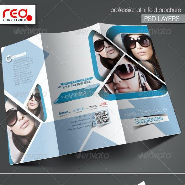 SunGlasses Fashion Store Trifold Brochure Template