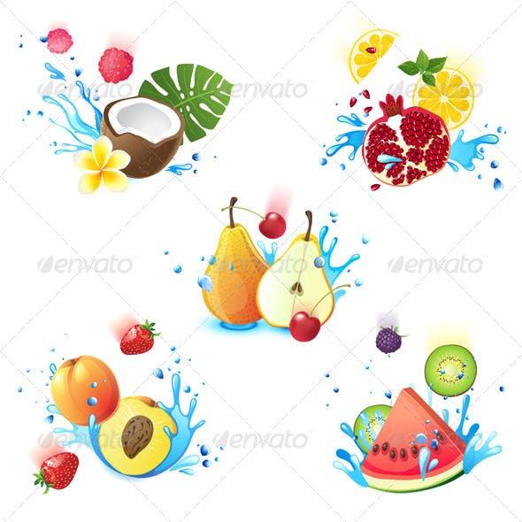 Fruits in Splashes