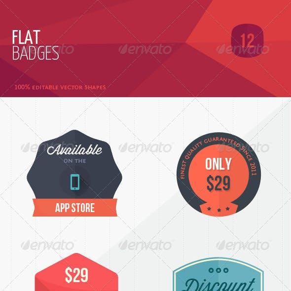 12 Flat Sweet Marketing Badges