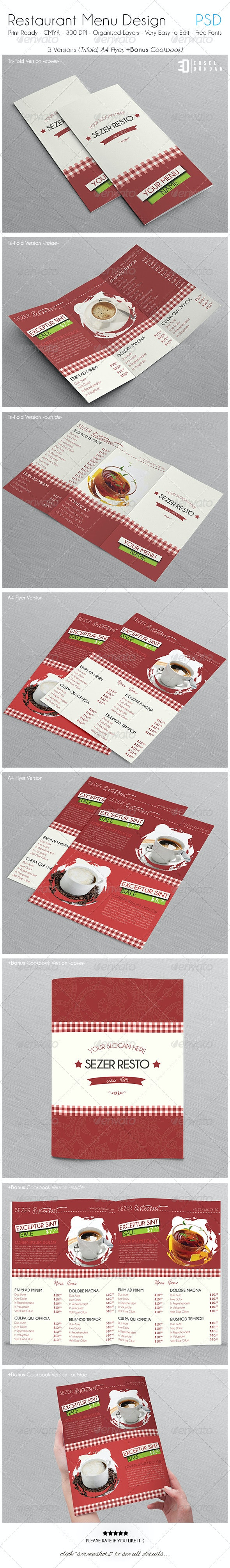 Restaurant Menu Design - Food Menus Print Templates