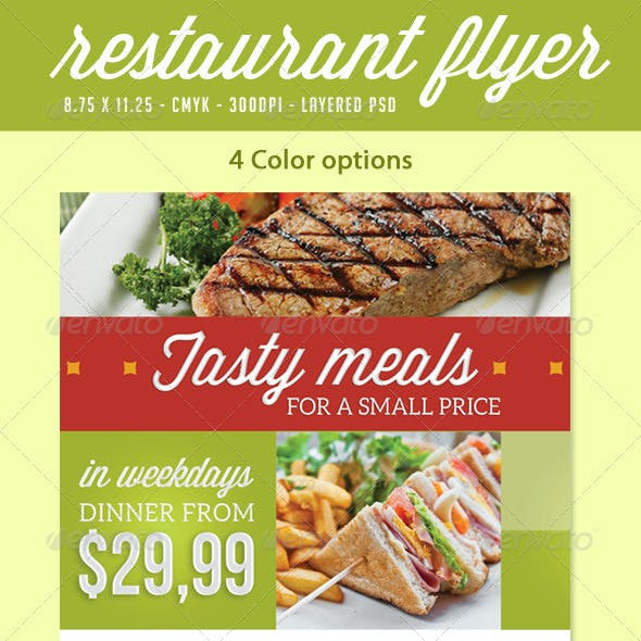 Restaurant Flyer Print Ad