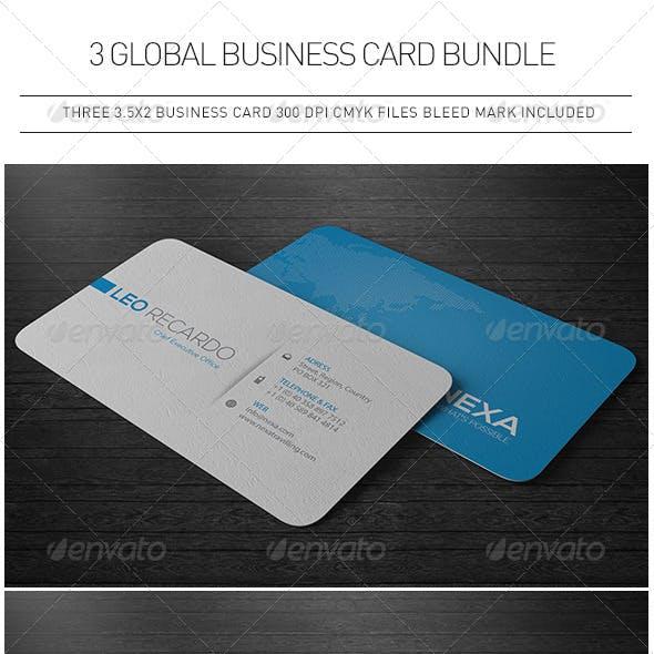 3 Global Business Cards Bundle
