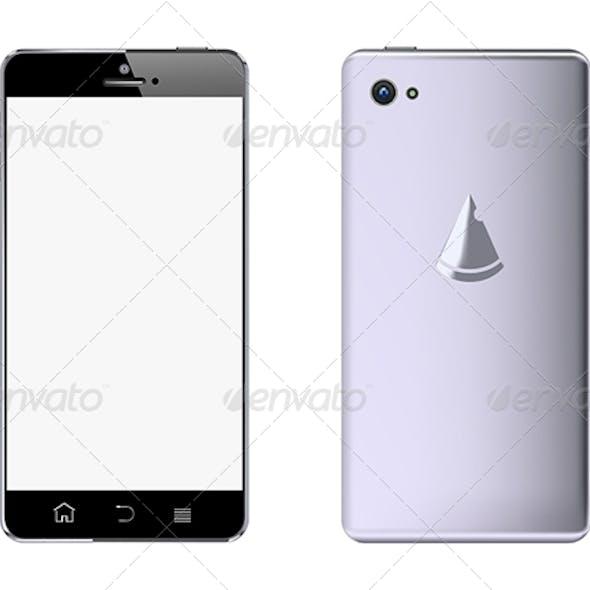 Front & Black Smart Phone