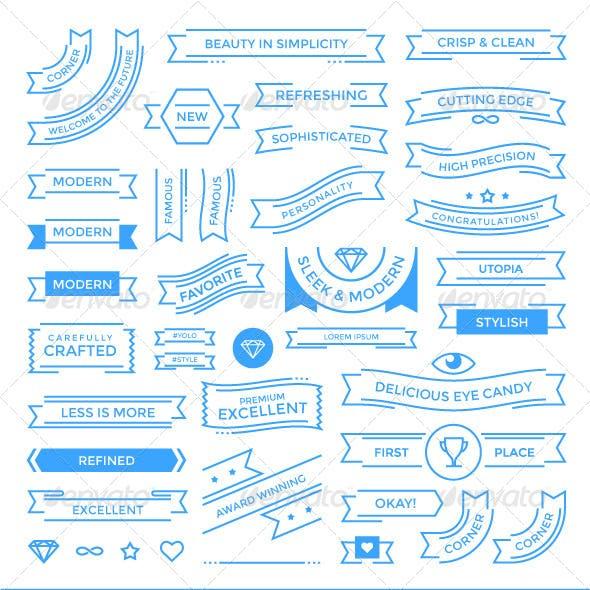 Flat UI Banner Elements
