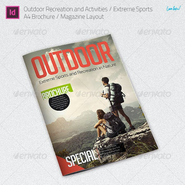 Outdoor Recreation / Extreme Sports - A4 Brochure