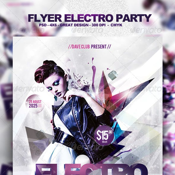 Flyer Electro Party Template