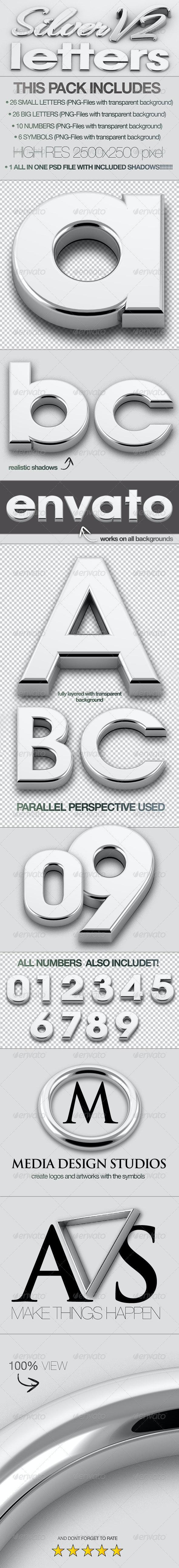 Silver Letters 3D V2 - 3D Backgrounds
