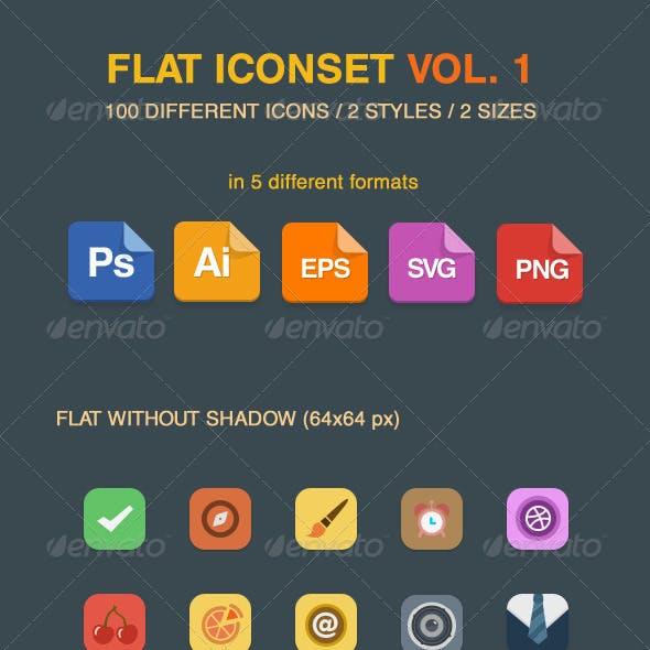 Flat Vector Iconset Vol 1