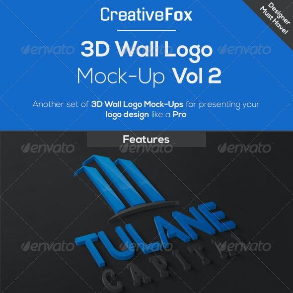 3D Wall Logo Mock-Up Vol 2