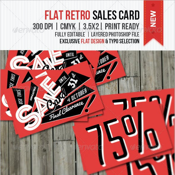 Flat Retro Sale Card