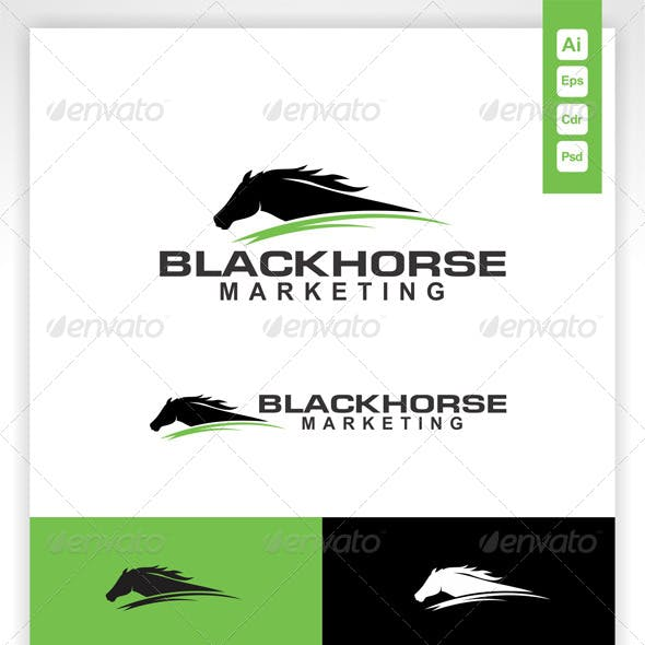Black Horse Marketing Logo