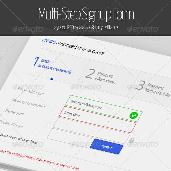 Multi-Step Signup Form