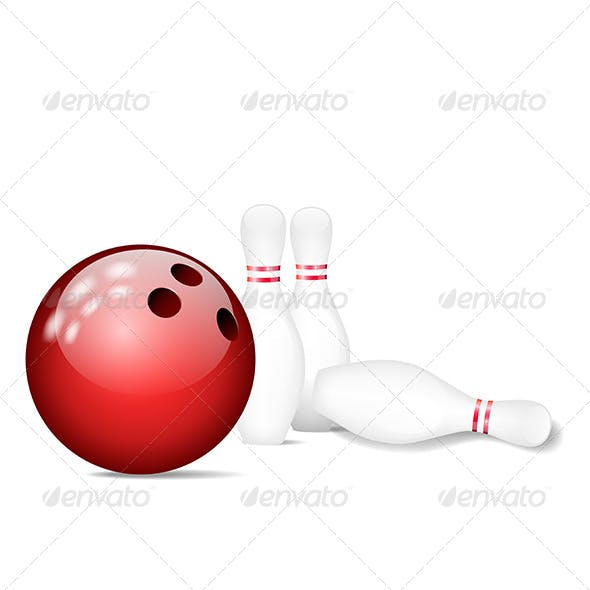 Skittles with Bowling Ball