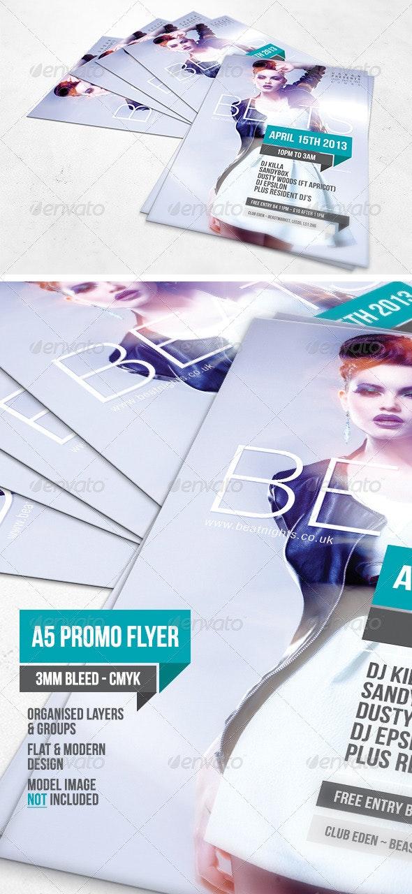 Beats A5 Flyer Template - Events Flyers