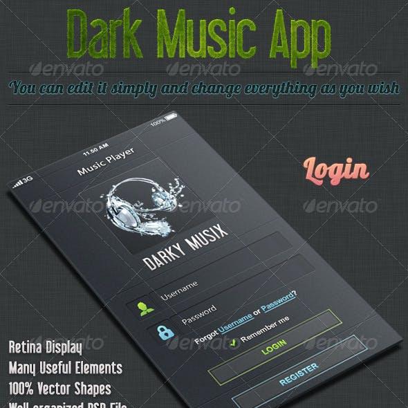 Dark iOS Music App UI