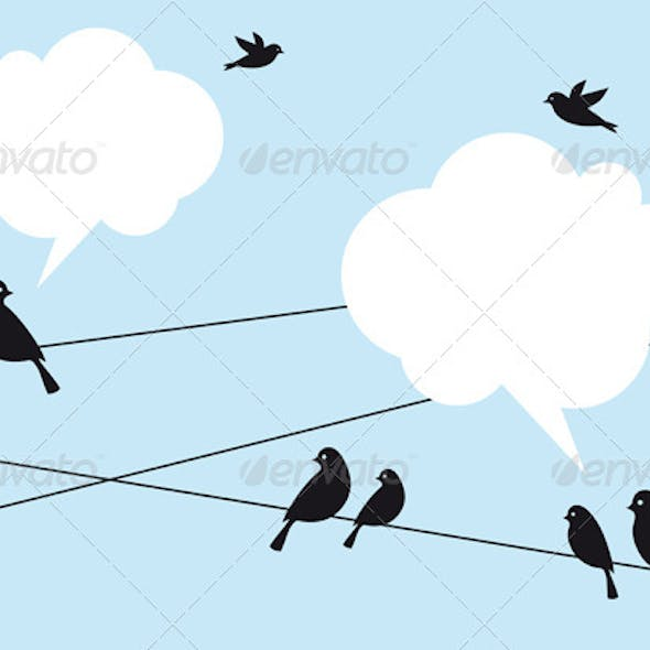 Birds in the Sky Vector Background
