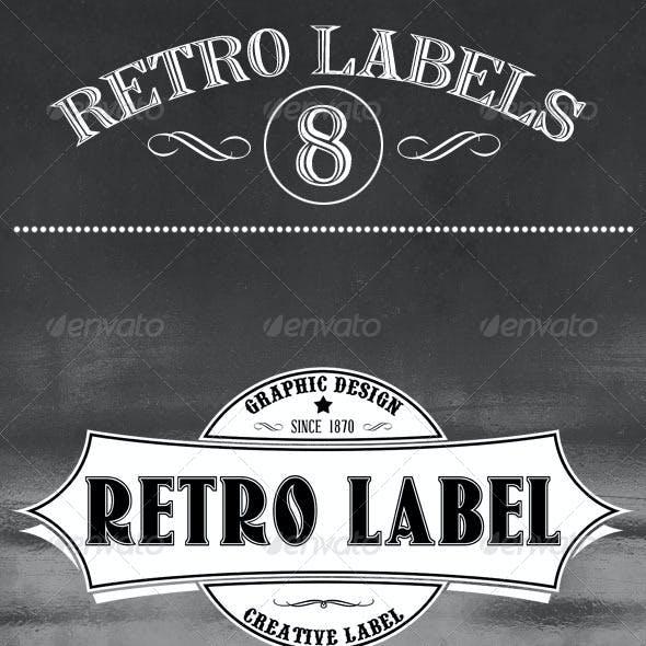 8 Retro Labels