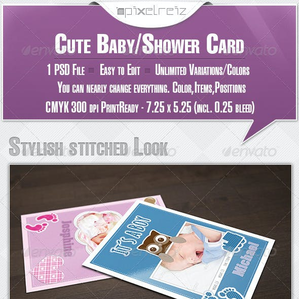 Cute Baby/BabyShower Card