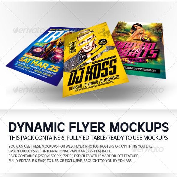 Dynamic Flyer Mockups