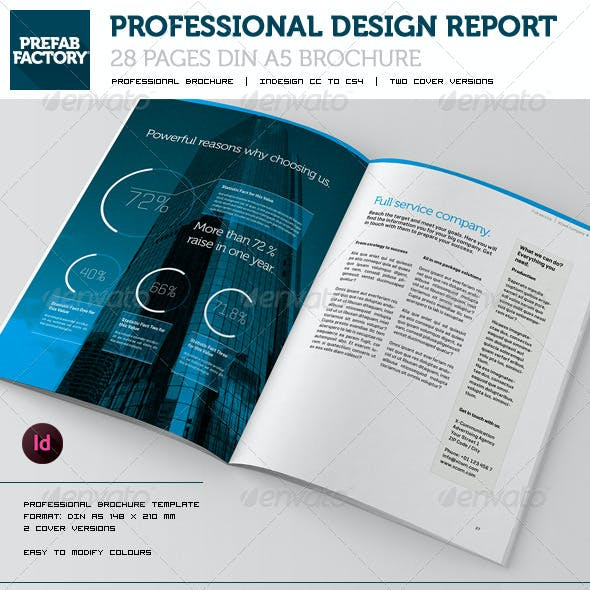 Communication Brochure Design  DIN A5