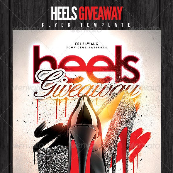 Heels Giveaway Flyer Template