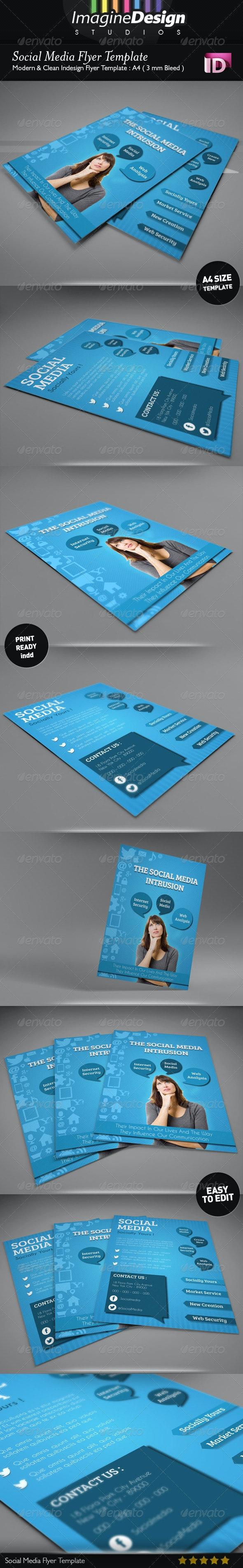 Social Media Flyer Template - Flyers Print Templates