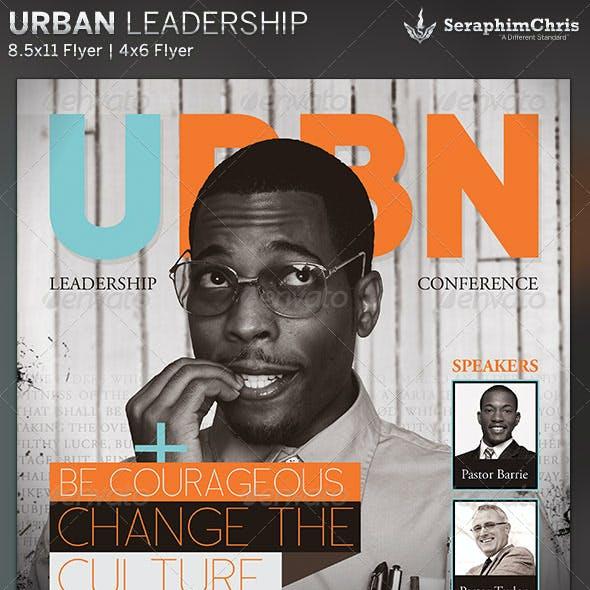 Urban Leadership Church Event Flyer Template