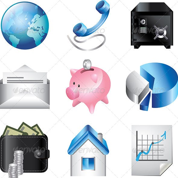 Download Business Icons Colorful Set