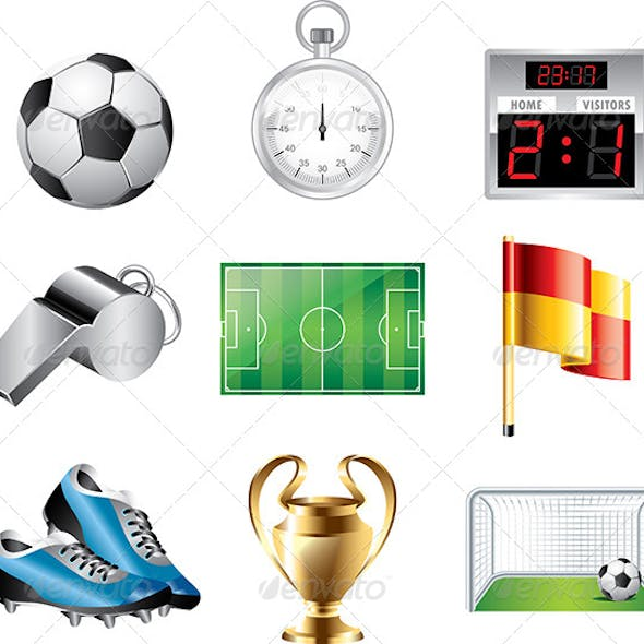 Soccer Icons Vector Set