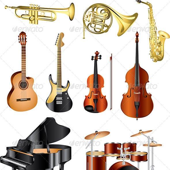 Musical Instruments Vector Set