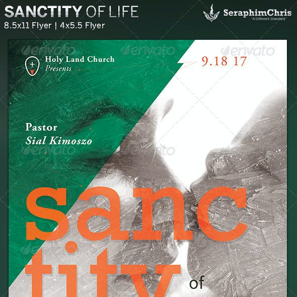Sanctity of Life: Church Event Flyer Template